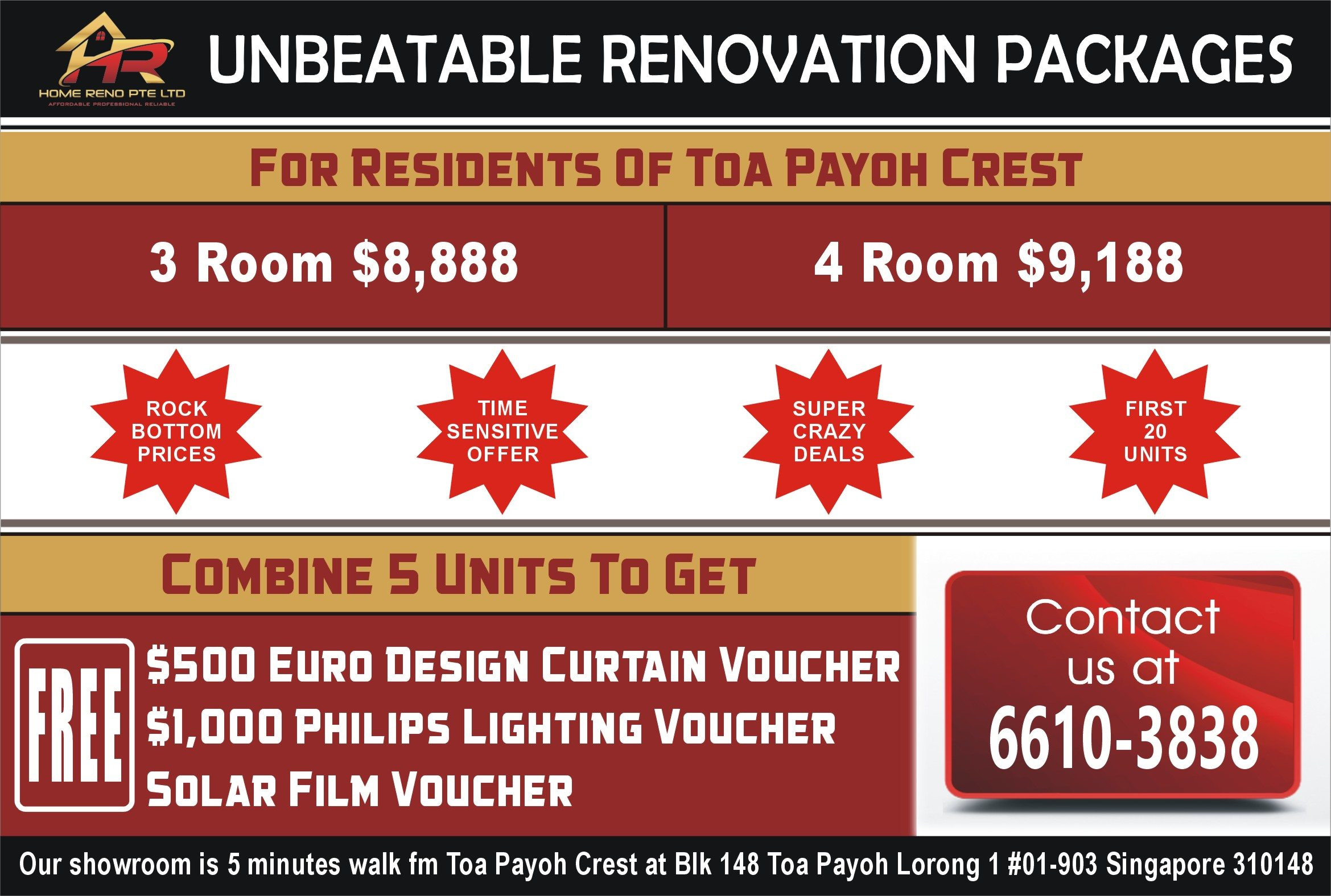 Unbeatable reno package for Toa Payoh Crest